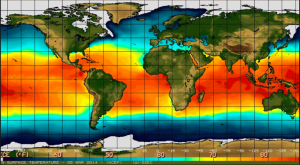 Warmer temperatures leading to a 2015 El Nino season
